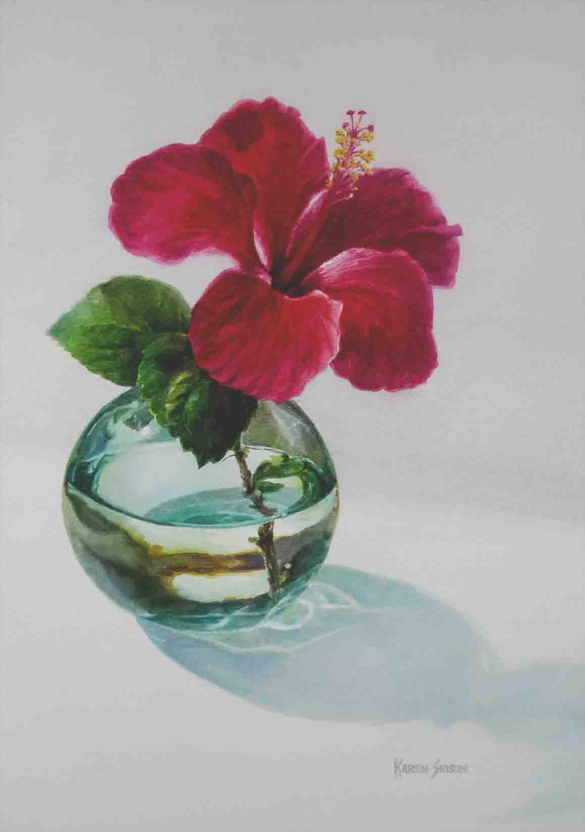 Karen Sioson_hibiscus in glass vase_1_TN