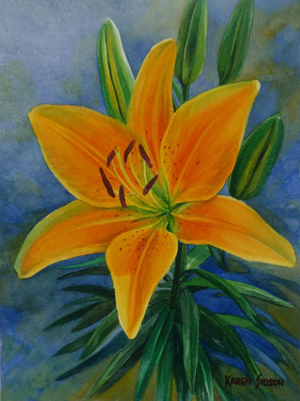karensioson_yellow_orange_lilium