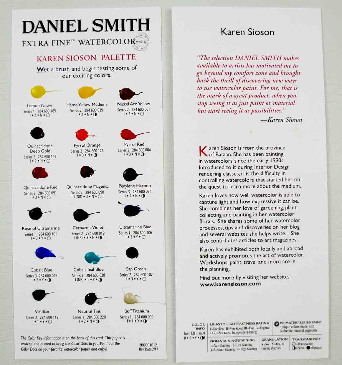 Karen Sioson Color Palette