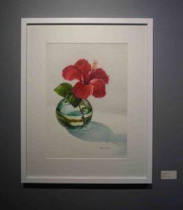 Karen Sioson_Gumamela in Glass_framed