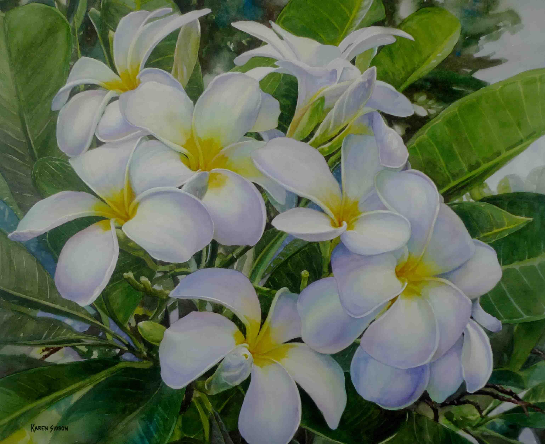 White Garden I, 20 x 25 inches