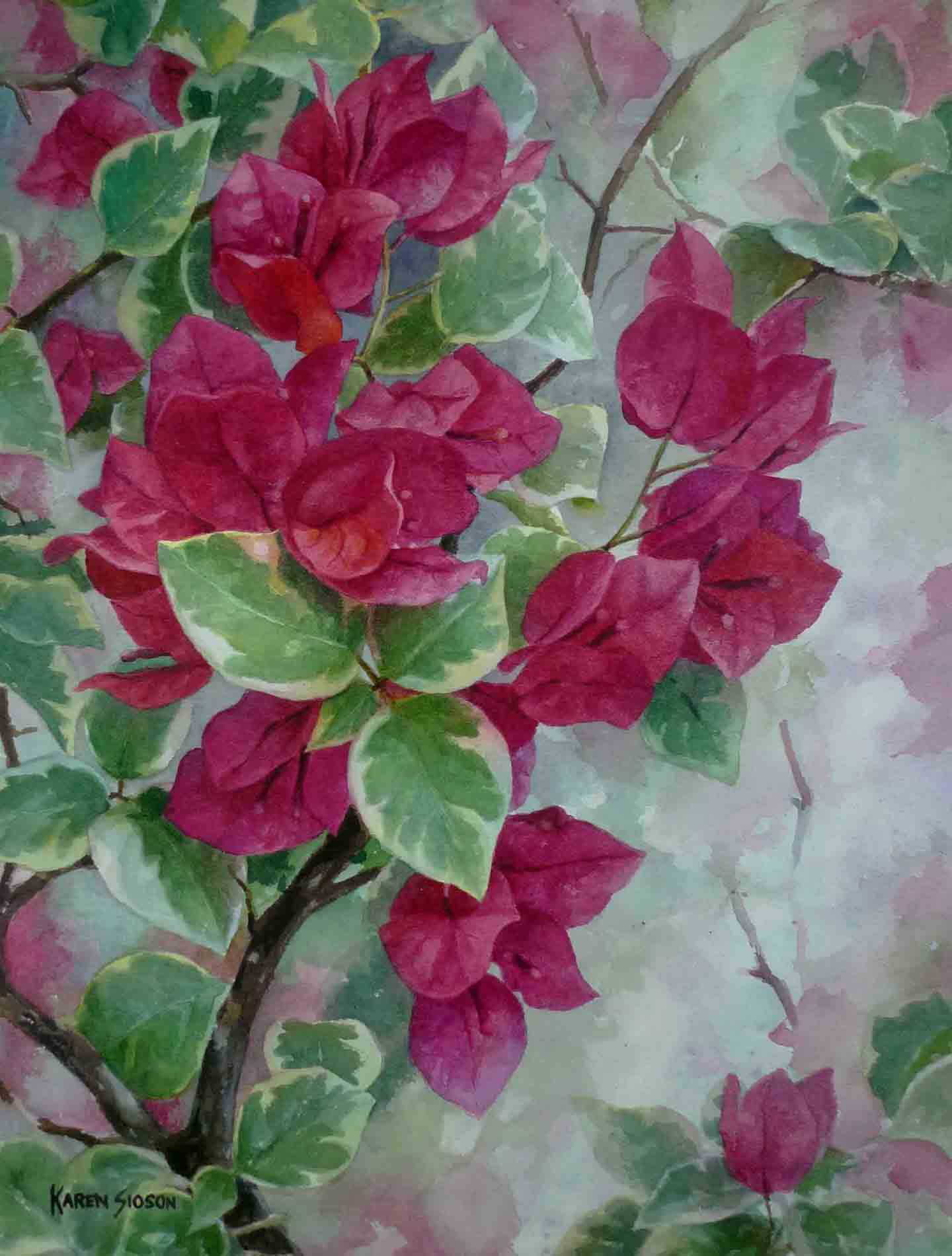 Rhapsody in Red, 15.75 x 11.75 inches