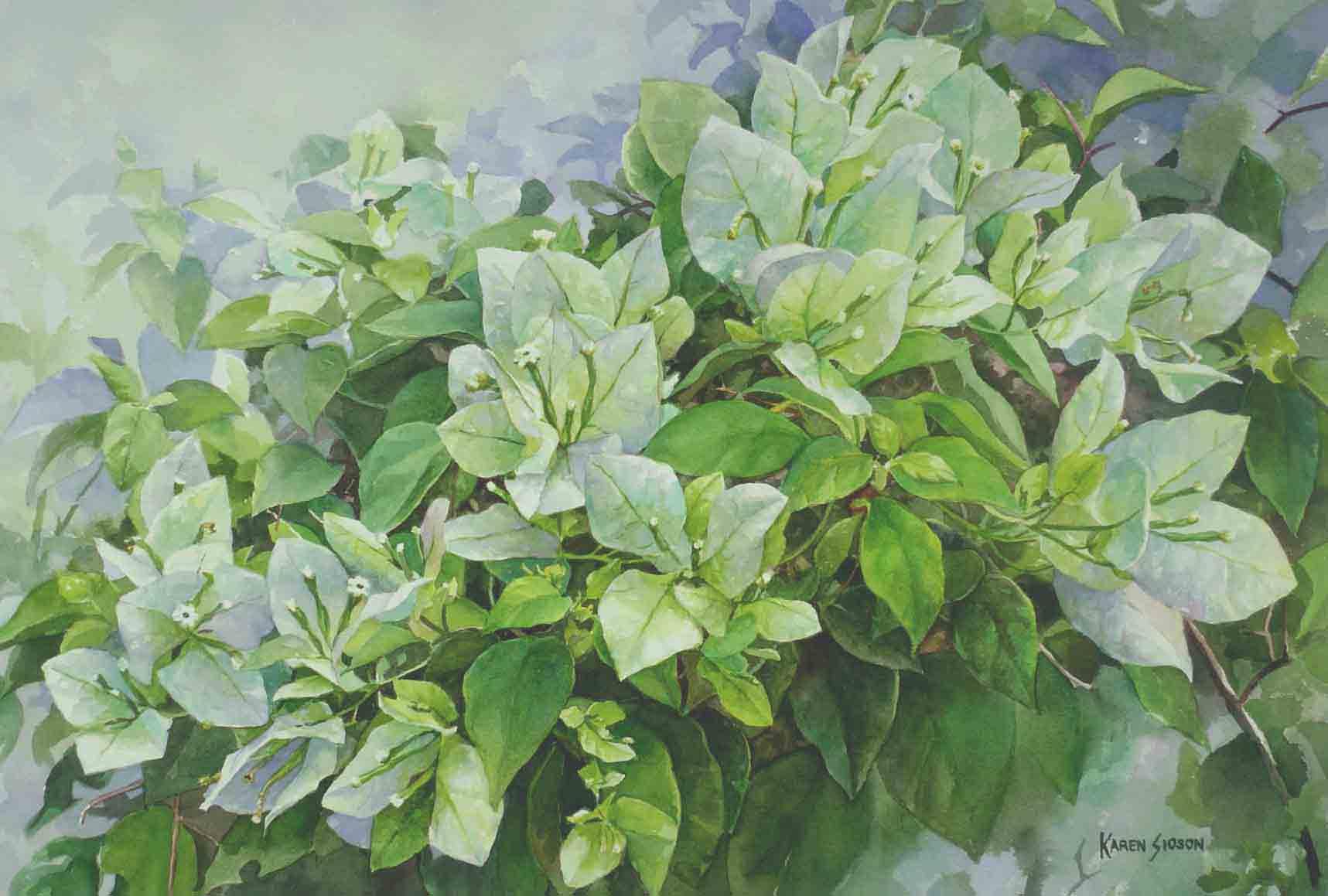 White Garden II, 15 x 22.5 inches