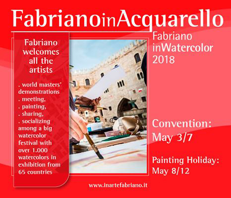 Click here for more info on how to join Fabriano in Acquarello 2018